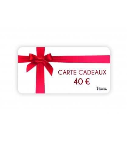 Carte cadeaux d'une valeur de 40 euros